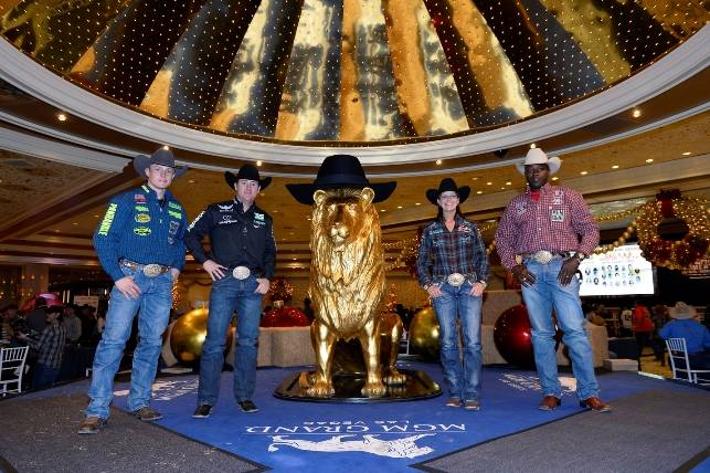 12.5.14 Tuf Cooper, Trevor Brazile, Mary Walker and Fred Whitfield at MGM Grand - Photo by Bryan Steffy