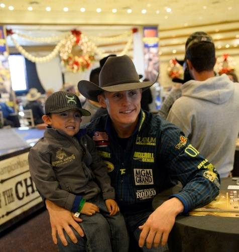 12.5.14 World Champion Tuf Cooper at the Autograph Session at MGM Grand - Photo by Bryan Steffy