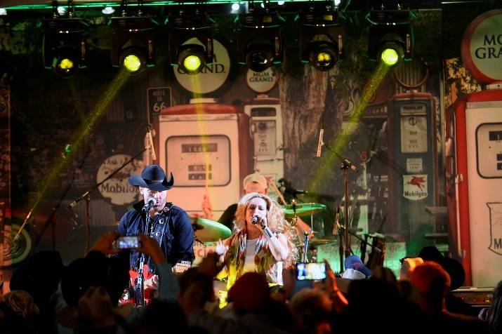 12.9.14 Trick Pony Performs at the Gold Buckle Zone at MGM Grand 04 - Photo by Bryan Steffy