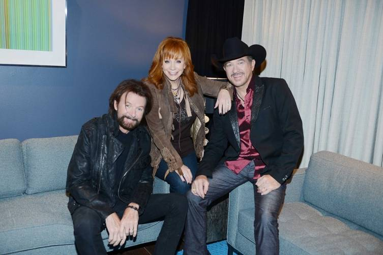 Country stars Ronnie Dunn, Reba McEntire and Kix Brooks announce their new residency, REBA, BROOKS & DUNN: Together in Vegas, at The Colosseum at Caesars Palace. Photo: Denise Truscello