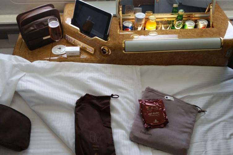 Slippers, pajamas and eye mask