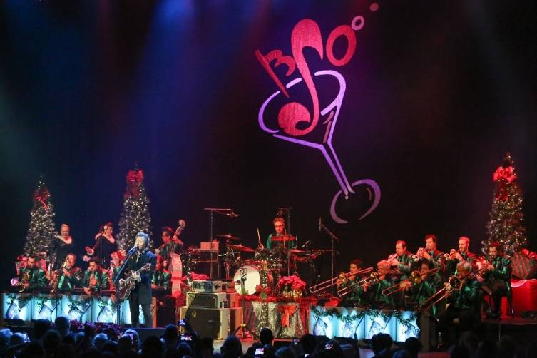The Brian Setzer Orchestra at the Pearl at the Palms. Photos: Edison Graff