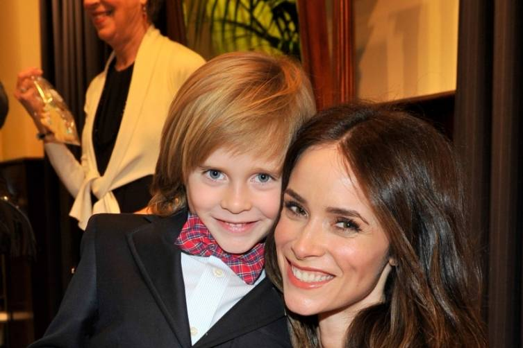 Abigail Spencer and son