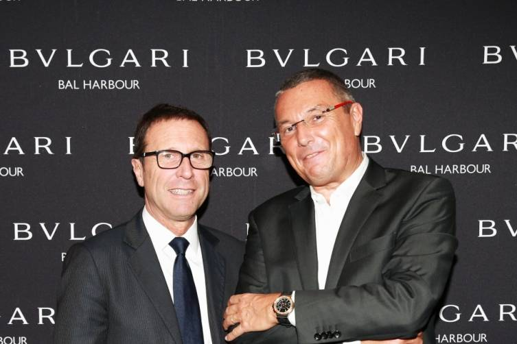 Alberto Festa & Jean-Christophe Babin at Bulgari Bal Harbour Shops Unveiling with Peter Marino - photo by Ben RosserBFAnyc.com
