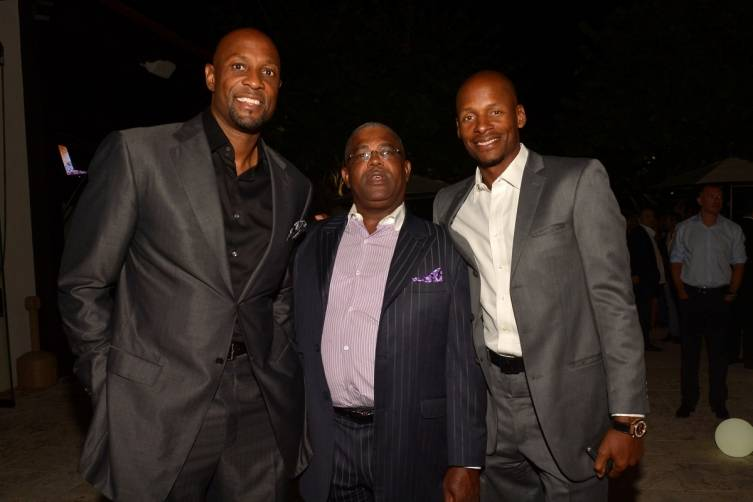 Alonzo Mourning, Bill Diggs and Ray Allen