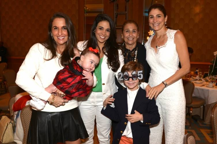 Amy Sayfie Zichella, Stephanie Sayfie Aagaard, Suzie Sayfie, & Lisa Sayfie Ranawat and family at Miami City Ballet's Nutcracker Magic Gala