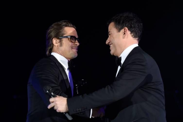 Brad Pitt and Jimmy Kimmel