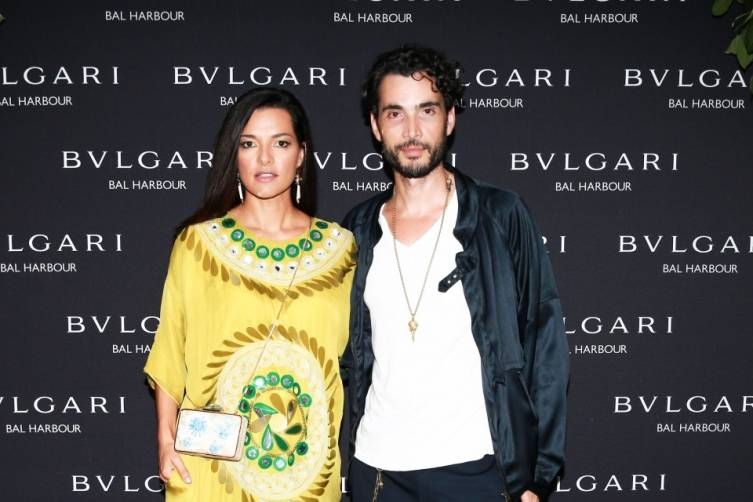 Candela Ferro & Khotan Fernandes at Bulgari Bal Harbour Shops Unveiling with Peter Marino - photo by Ben RosserBFAnyc.com
