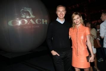 Coach designer Stuart Vevers and Kate Bosworth