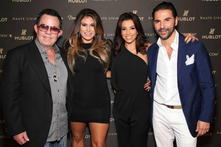 JR and Loren Ridinger, Eva Longoria and Jose Antonio Baston by Omar Vega