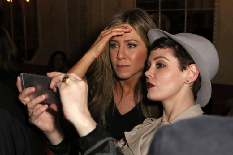 Jennifer Aniston and Rose McGowan