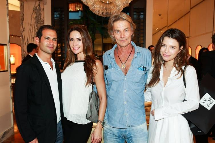 Mikael Kraemer, Stacy Milon, Andreas Bosse & Susanna Nikolova at Bulgari Bal Harbour Shops Unveiling with Peter Marino - photo by Ben RosserBFAnyc.com