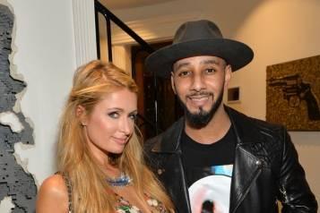 Paris Hilton and Swizz Beatz attend Kehinde Wiley + GREY GOOSE Portrait Preview