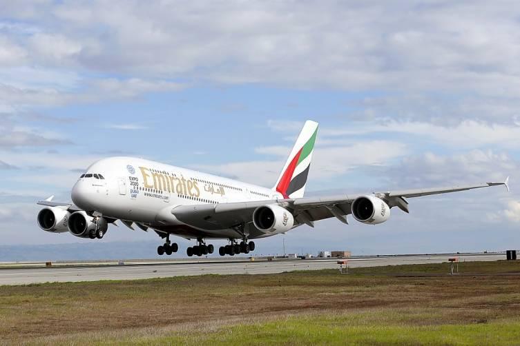A380 Touches Down at SFO