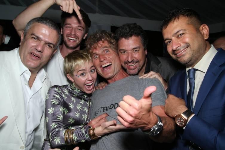 Ricardo Guadalupe, Patrick Schwarzenegger, Miley Cyrus, Anthony Shriver, Rick de la Croix and Kamal Hotchandani by Omar VEGA