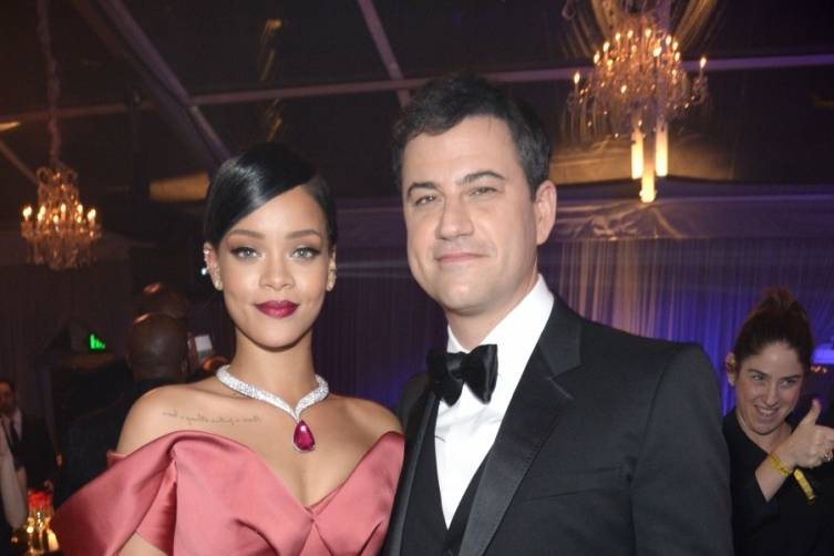 Rihanna and Jimmy Kimmel