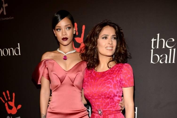 Rihanna and Salma Hayek