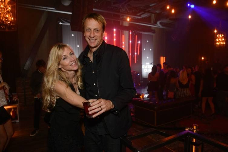 Tony Hawk and girlfriend Cathy Goodman enjoy Sayers Sessions at The Sayers Club inside SLS Las Vegas. Photos: Al Powers Imagery