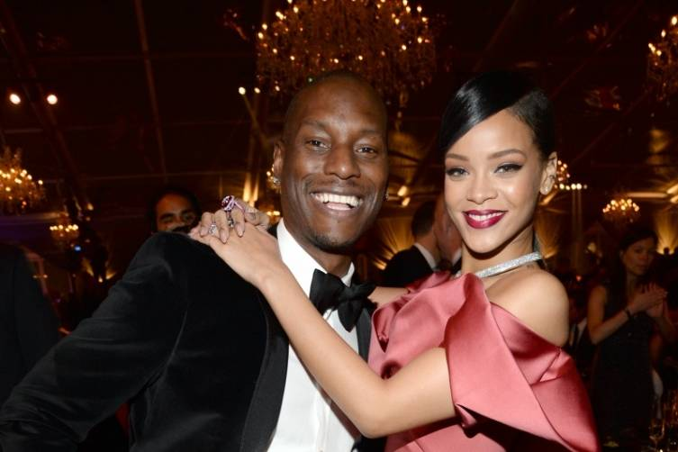 Tyrese and Rihanna