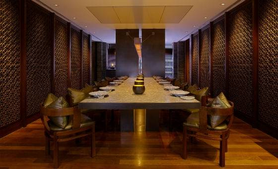 setai grill mother of pearl table