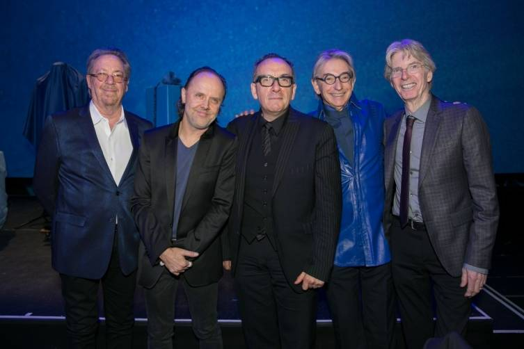 Boz Scaggs, Lars Ulrich, Elvis Costello, Michael Tilson Thomas and Phil Lesh