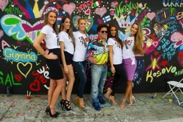 Romero Britto Miss Universe