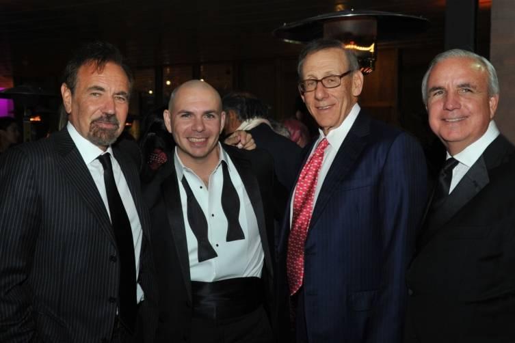 Jorge Pérez, Pitbull, Stephen Ross, Mayor Carlos Gimenez - Juan E. Cabrera
