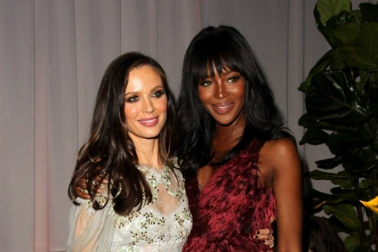 Georgina Chapman and Naomi Campbell at TWC/Netflix post-Golden Globes party