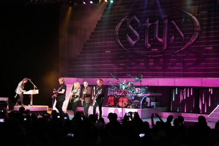 Styx plays the Pearl at the Palms. Photos: Edison Graff/Stardust Fallout