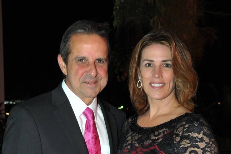 Former City of Miami Mayor Manny Diaz, PAMM Trustee, and wife - Juan E. Cabrera