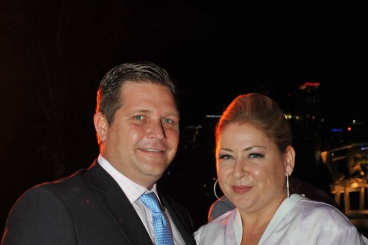 Pieter Bockweg of the OMNI CRA and Leann Standish, PAMM Interim Director - Juan E. Cabrera