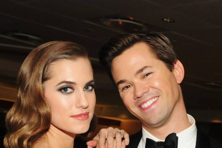 Allison Williams and Andrew Rannells at HBO's post-Golden Globes party