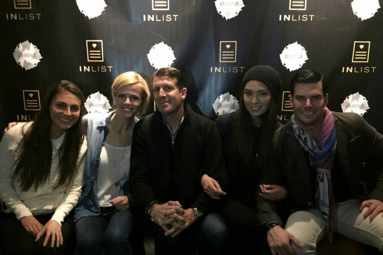 Brooke Biederman, Brooklyn Decker, Michael Capponi, Hana Mayeda, and Gideon Kimbrell attend the Cards For Humanity Celebrity Game Night presented by InList to benefit EIM Haiti on January 25, 2015 in Park City, Utah.