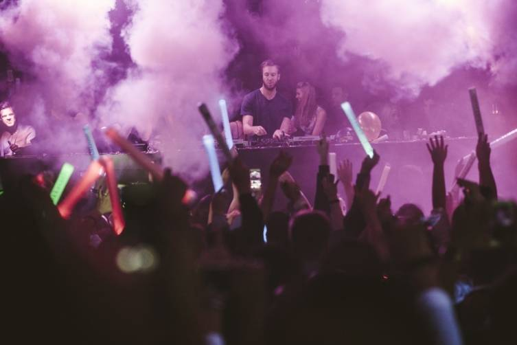 Calvin Harris at Hakkasan. Photos: Aaron Garcia