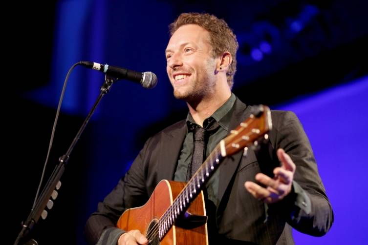 Chris Martin at the Help Haiti Home gala