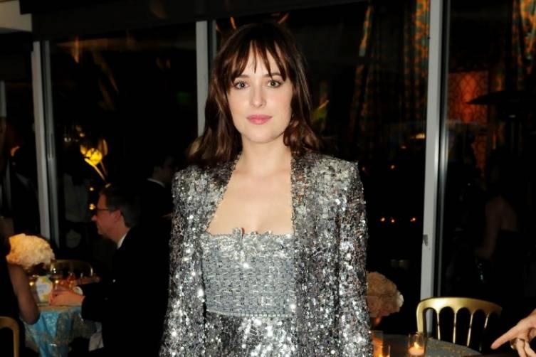Dakota Johnson at HBO's post-Golden Globes party