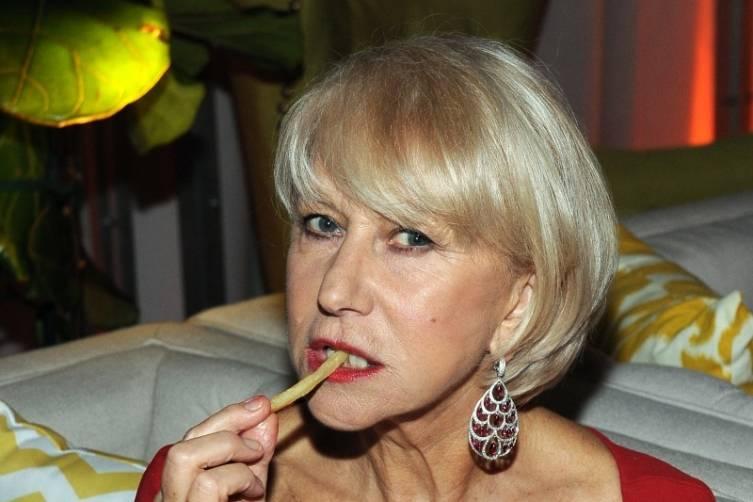 Dame Helen Mirren at TWC/Netflix post-Golden Globes party