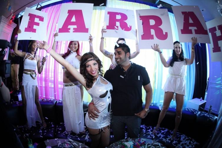 Farrah Abraham and Simon Saran at Ghostbar Dayclub
