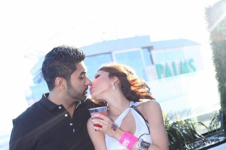 Farrah Abraham and Simon Saran kiss on Ghostbar patio