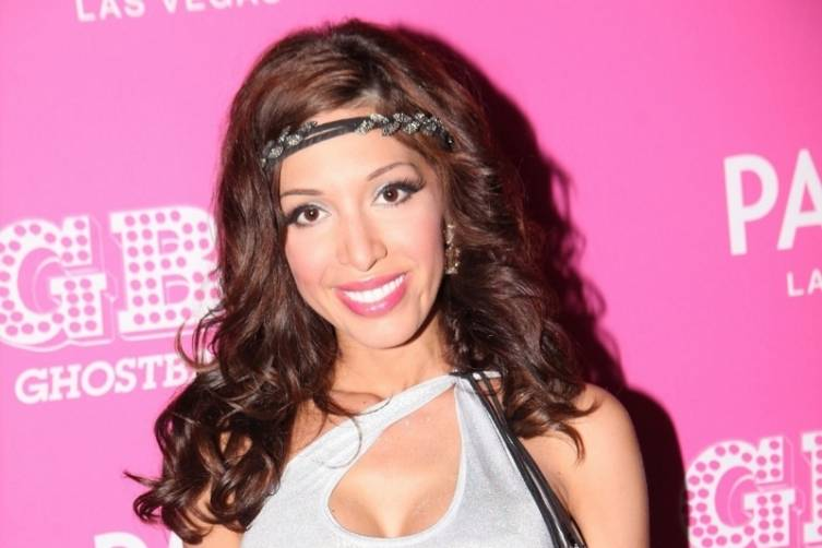 Farrah Abraham on red carpet at Ghostbar Dayclub