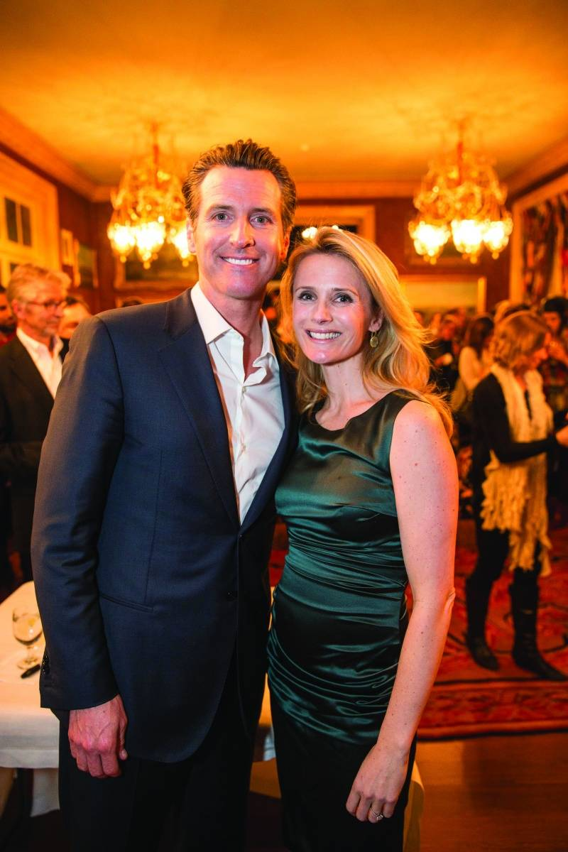 Gavin Newsom, Jennifer Siebel Newsom, credit Drew Altizer Photography
