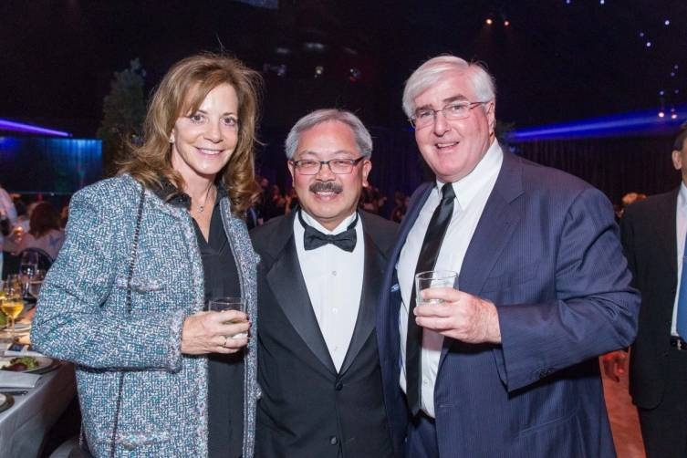 Gayle Conway, Mayor Ed Lee and Ron Conway