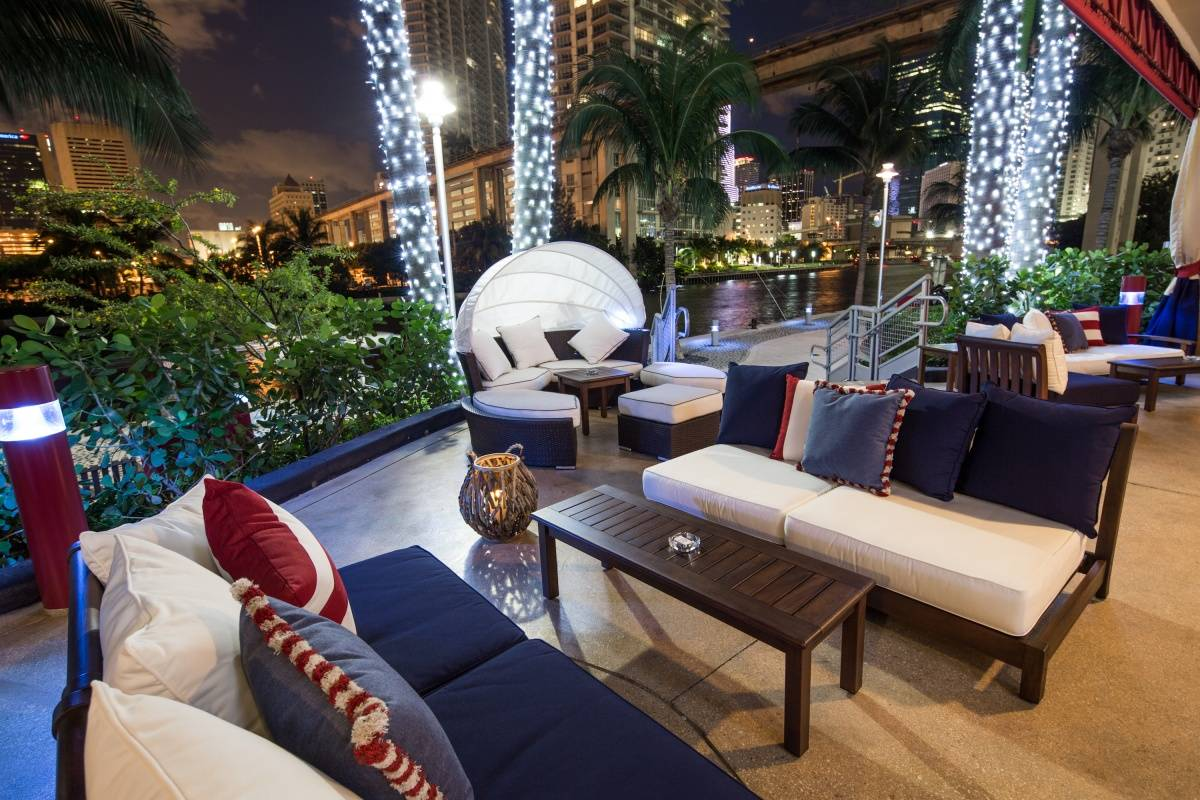 living group london miami  this brickell haunt sits at the base of the neo vertika luxury loft building offering unobstructed views of yachts cruising the tranquil miami river