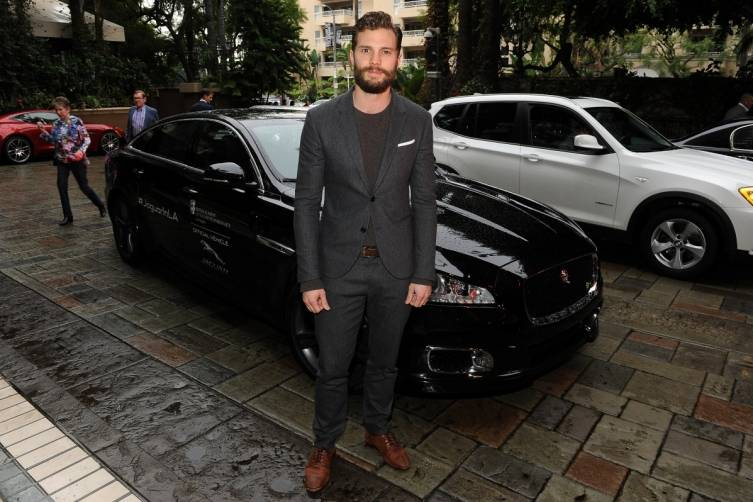 Jamie Dornan arriving at the BAFTA Tea Party by Jaguar