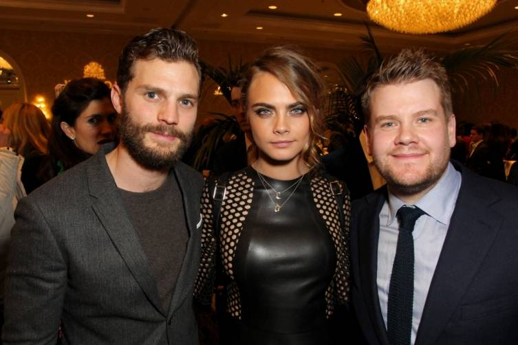 Jamie Dornan, Cara Delevingne and James Cordon at the BAFTA Tea Party