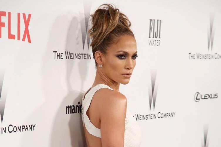Jennifer Lopez at TWC/Netflix post-Golden Globes party