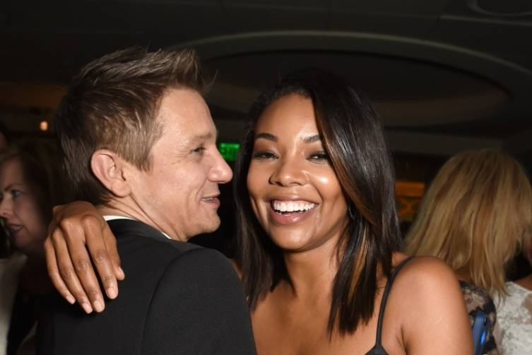 Jeremy Renner and Gabrielle Union at HBO's post-Golden Globes party