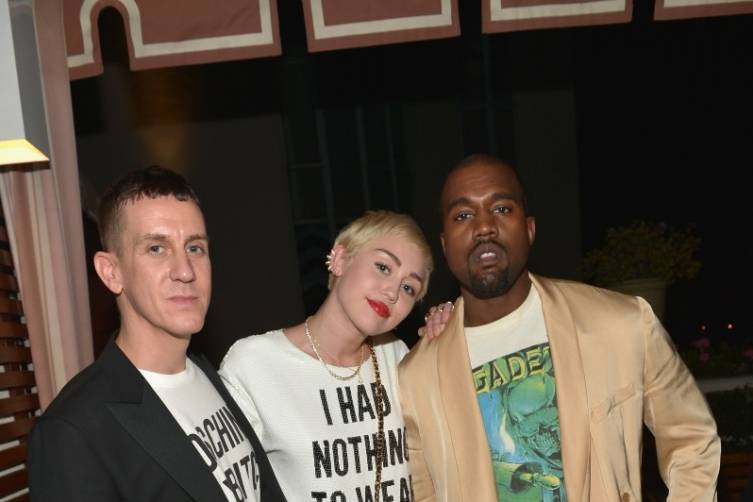 Jeremy Scott, Miley Cyrus and Kanye West