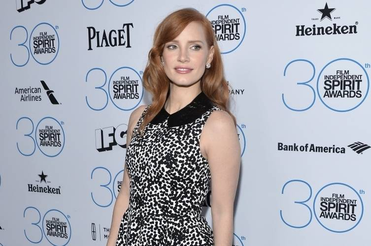 Jessica Chastain wearing Piaget at the Independent  Spirit Awards nominees brunch