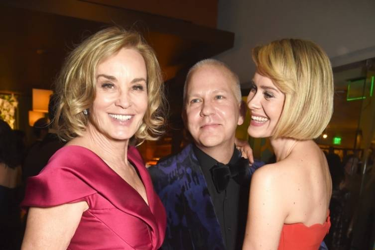 Jessica Lange, Ryan Murphy and Sarah Paulson at HBO's post-Golden Globes party
